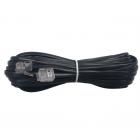 سیم تلفن سوکتی (بند خط) مشکی متراژ سفارشی