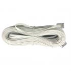 سیم تلفن سوکتی (بند خط) سفید 1 متری