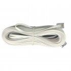 سیم تلفن سوکتی (بند خط) سفید 3 متری
